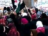 فري برس   إدلب خان شيخون ملتقى حرائر خان شيخون ردا على العفو المزعوم 16 1 2012