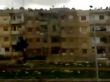 فري برس   حمص حي الخالدية استهداف المنازل با القذائف الصاروخية صباح يوم الثلاثاء 17 1 2012