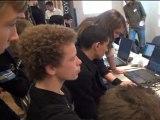 Stand du lycée de l'Emperi au Forum des mathématiques d'Aix-en-Provence