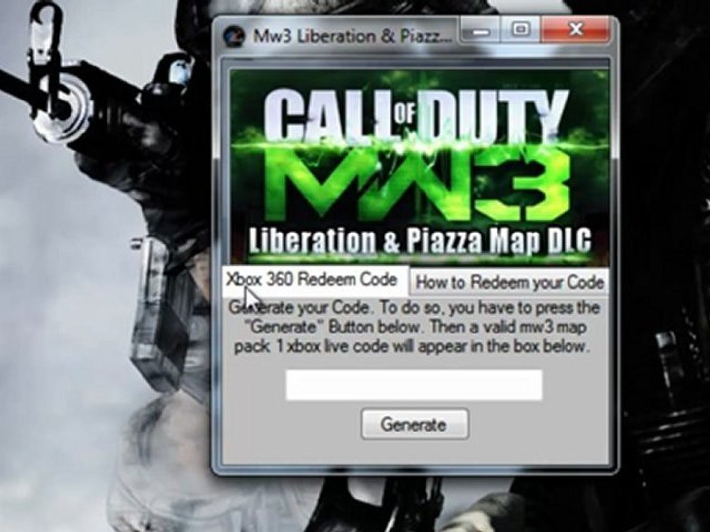 How to get Mw3 DLC Liberation & Piazza for Free Xbox 360 (USB)