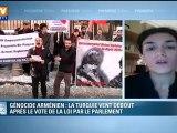 La Turquie vent debout contre la proposition de loi pénalisant le génocide arménien