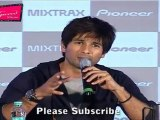 "Bollywood Star Shahid Kapoor Speaks About Late Night Party @ Launch Of ""Pioneer Mixtrax"""