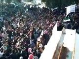 فري برس   مظاهرة ضخمة جدا في خان شيخون جمعة الزحف الى ساحات الحرية 30 12 2011
