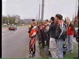 Honda CBR 929 vs police auto crash