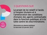 [Questions sur] Fonction publique : améliorer les conditions d'emploi