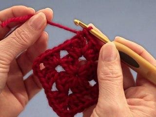 Crochet : granny carré - droitières
