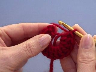 Crochet : anneau magique -  droitière