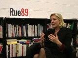 Marine Le Pen face aux riverains (25/01/2012) - La liberté sur Internet