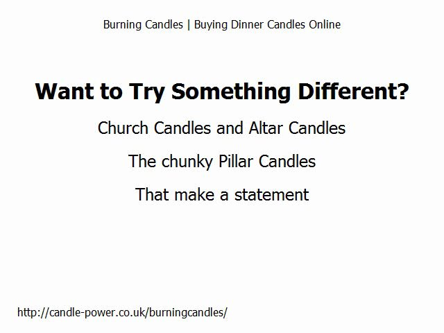 Dinner Candles Online