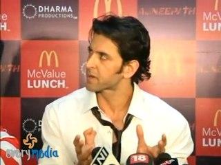 Hrithik Roshan Talking about his acting
