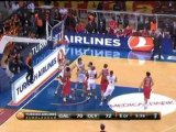 Euroligue: Galatasaray 78-77 Olympiacos