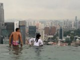 Marina Bay Sands Skypark BASE Jump. Singapore 2012