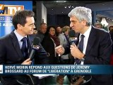 Au forum de Libération, Hervé Morin répond aux questions de BFMTV