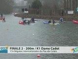 FINALE 2 (200m) K1 DAME CADET - REGATE INTERNATIONALE DU PAS-DE-CALAIS 2012