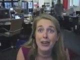 Stress au bureau blonde qui chante HUMOUR