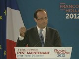 Point presse de François Hollande à Brest - 30 janvier 2012