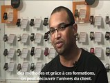 Jean Laurent, vendeur en boutique chez Orange