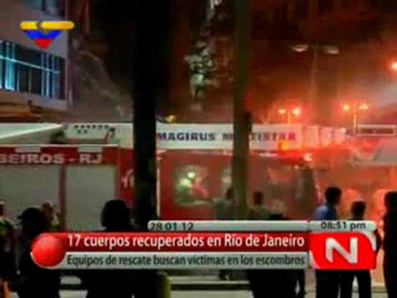 (Video)Brasil 17 muertos hasta ahora tras colapso de 3 edificios en Río de Janeiro Venezolana de Tel