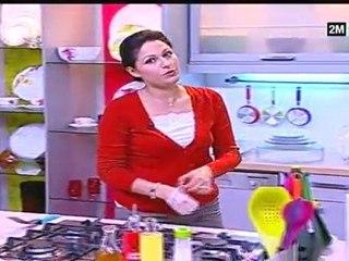 Chhiwat choumicha recette terrine au poulet et à la viande  et épinards