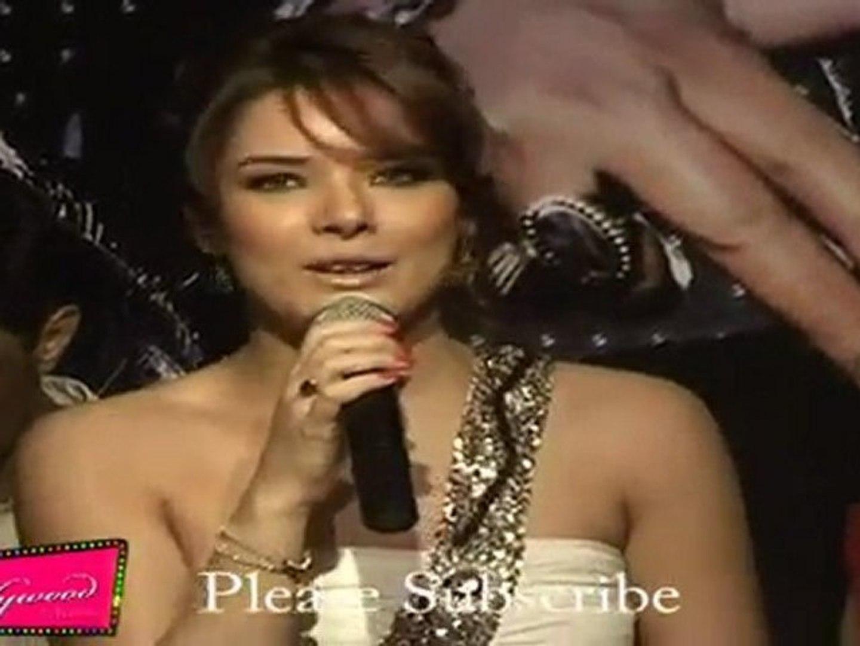 hot Udita Goswami Looks Very Hot In No Shoulder White Attire @ Music Launch
