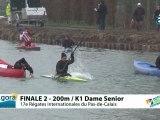 FINALE 2 (200m) K1 DAME SENIOR - REGATE INTERNATIONALE DU PAS-DE-CALAIS 2012