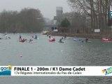 FINALE 1 (200m) K1 DAME CADET - REGATE INTERNATIONALE DU PAS-DE-CALAIS 2012