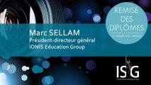 Remise des diplômes ISG promo 2011 - Discours de Marc Sellam