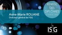 Remise des diplômes ISG promo 2011 - Discours d'Anne-Marie Rouane