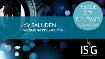 Remise des diplômes ISG promo 2011 - Discours de Loïc Saluden