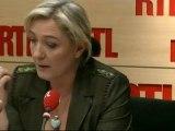 Marine Le Pen, candidate du Front national à la Présidentielle, répondait aux questions des auditeurs de RTL jeudi matin