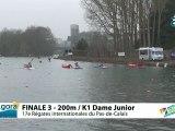FINALE 3 (200m) K1 DAME JUNIOR - REGATE INTERNATIONALE DU PAS-DE-CALAIS 2012