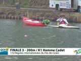 FINALE 3 (200m) K1 HOMME CADET - REGATE INTERNATIONALE DU PAS-DE-CALAIS 2012