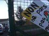 blocage de l'école La Campagne à Bourbourg