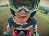 Grimaces en motocross avec une GoPro HD