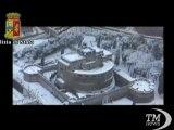 Neve a Roma, la Città eterna imbiancata vista dall'elicottero. Lo spettacolo dell'inconsueta nevicata