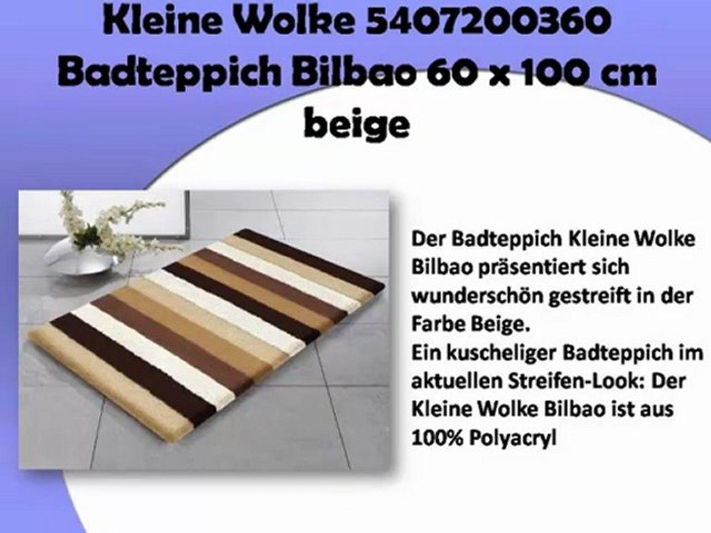 Badteppich Kleine Wolke Bilbao beige 60x100 cm