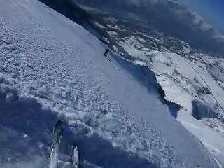 PEK riding snow