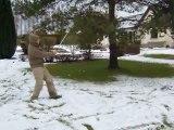 Golf dans la neige