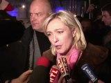 """Marine Le Pen a fait huer par un millier de supporteurs du Front National réunis à Toulouse le """"rêve de la classe politique"""" de la voir absente de l'élection présidentielle"""
