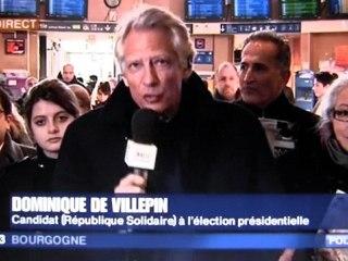 Interview de Villepin à Dijon (France3 Bourgogne, 06/02/2012)