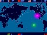 Eine Zeitskala-Karte von jeder Nuklearen Explosion - 2053 Explosionen allein von 1945 bis 1998 auf der Welt