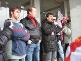 Prise de parole CGT pour la SObrena - Brest le 4 février 2012