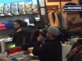 Khloe Kardashian, Lamar Odom, y Rob Kardashian comprando en Kitson