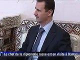 Syrie: Assad reçoit le chef de la diplomatie russe à Damas