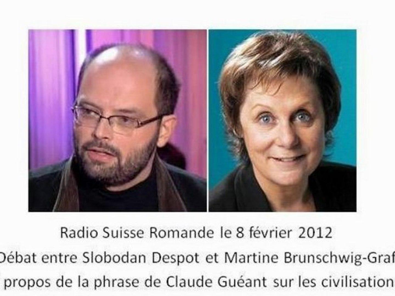 Sloboda Despot débat à la radio suisse romande des propos de Claude Guéant