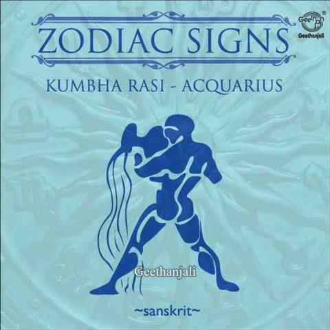 Zodiac Signs Kumbha Rais — Acquarius — Sanskrit