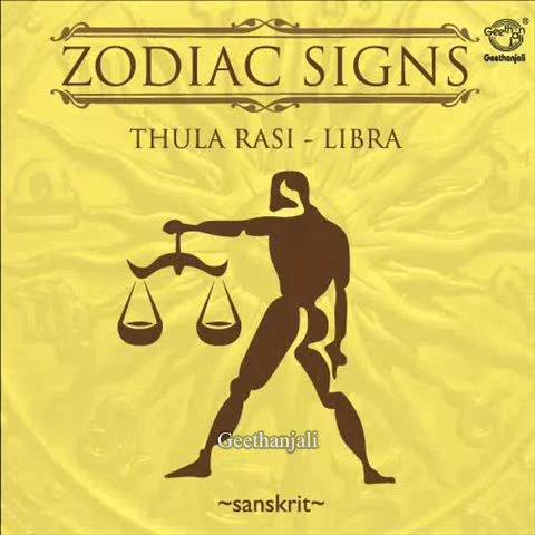 Zodiac Signs Thula Rasi Libra Sanskrit