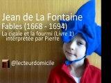 Fables de La Fontaine - La cigale et la fourmi (par Pierre)