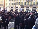 dispertion des anos lors du regroupement du 11 février 2012 (Nice-place Garibaldi)