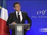 Discours de N. Sarkozy au dîner annuel du CRIF